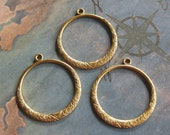 2 PC Raw Brass Victorian Hoop Jewelry Finding -  Q0281