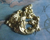1 PC Raw Brass Gothic Angel Finding - 0003T