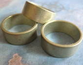 2 PC Raw Brass Solid Heavy Gauge Ring Band 8mm Wide / SZ 7 - BB15