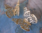 1 PC Large Lace Butterfly  - Brass Filigree Jewelry Finding - F0129