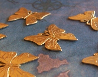 2 PC Brass Small DECO Butterfly Finding - F0135