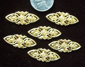 4 PC Victorian Floral Brass Jewelry Finding -  E0116