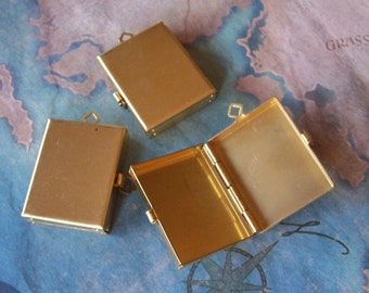 1 PC Raw Brass - Photo/Image Box Locket - ZNE PLB-1