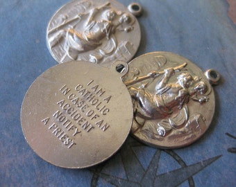 1 PC Catholic Medal / Made in Italy - II14