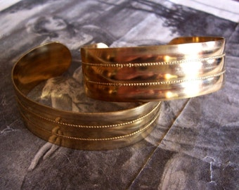1 PC Virgin Raw Brass Victorian Cuff Bracelet - B011
