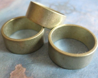 2 PC Raw Brass Solid Heavy Gauge Ring Band 8mm Wide / SZ 6 - BB13