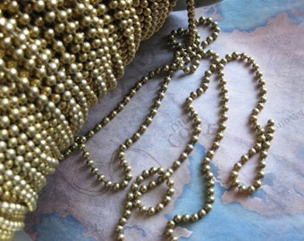 6 ft - 4mm Ball Chain  / Vintage Stock Brass