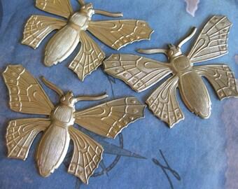 2 PC Brass Nouveau Fancy Butterfly - LL18