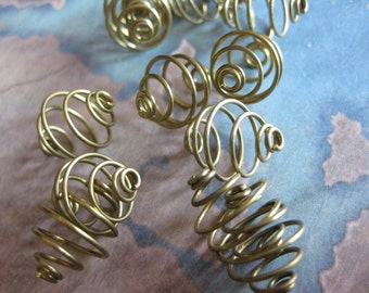 12 PC Raw Brass Wire Bead Cage - 10mm - PP03