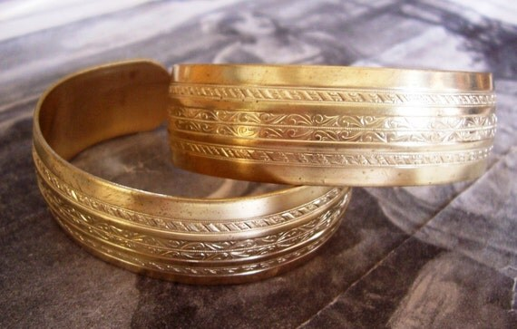 1 PC Raw Brass Art Deco Cuff Bracelet - B015