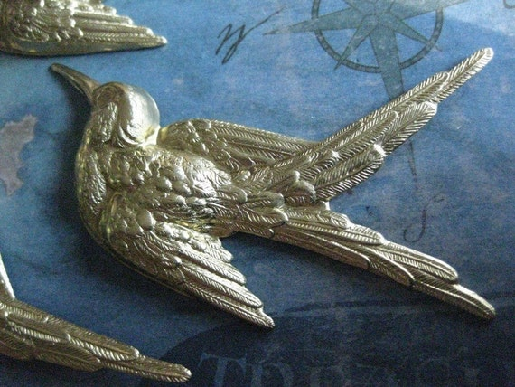 1 PC Large Flying Starling / Swallow Jewelry Finding - DD06