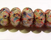 Lampwork Boro Beads Set of 9 \/ SRA