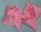 Pink Hair Bow - Very Large Boutique