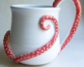 Monster Coffee Mug with ExtraTentacles MADE TO ORDER