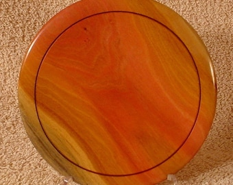 Pink Ivory Ring Dish or Coin Dish Turned Wood Bowl Number 4053