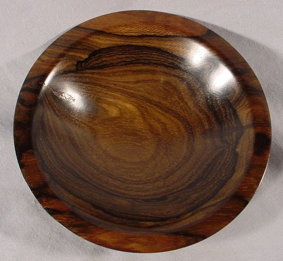 Zircote wood bowl, turned wooden bowl number 4363 by Bryan Nelson