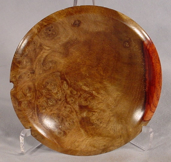 Amboyna Burl Ring or Coin Dish Turned Wooden Bowl Number 4394 by Bryan Tyler Nelson