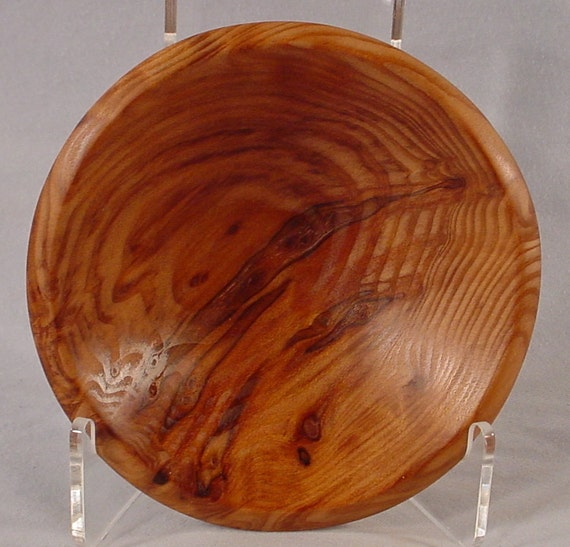 Curly Redwood Ring Dish Hand Turned Wooden Bowl No. 4443