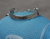 Boys sterling personalized cuff bangle bracelet