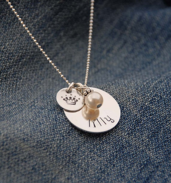 Reserved Sweet Princess - sterling necklace ideal for birthdays or bridesmaid flower girl gift