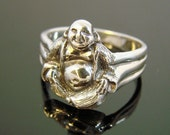 70% OFF Going Out of Business Sale.. .Buddha Sterling Silver Ring- size 9.25