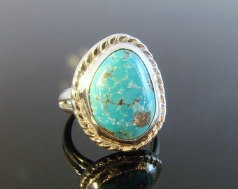 70% OFF Going Out of Business Sale.. ..Sterling Silver Turquoise Ring - size 6.25