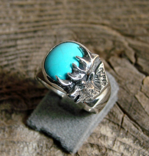 Sterling Silver Bugling Elk ring - (71)