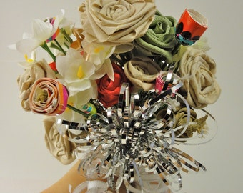 The Cicely Rehearsal Bouquet-Handmade Ribbon Bouquet-Wedding Shower Materials