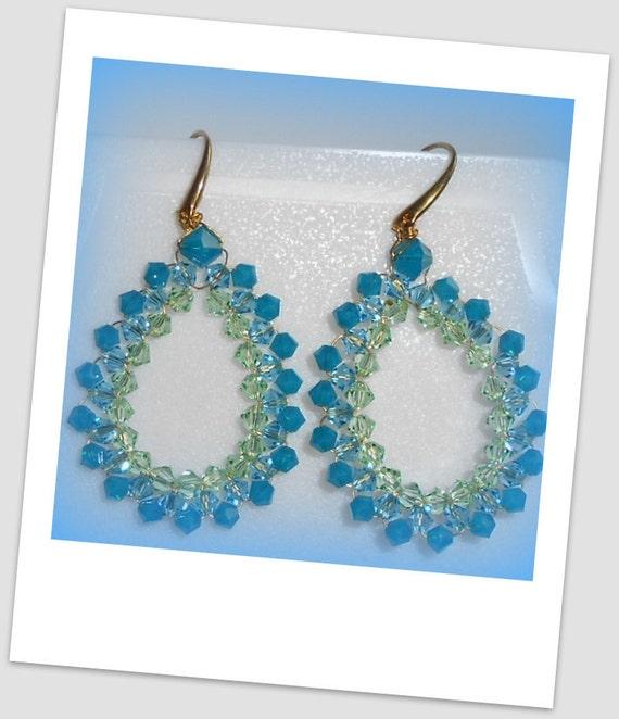Swarovski oval earrings