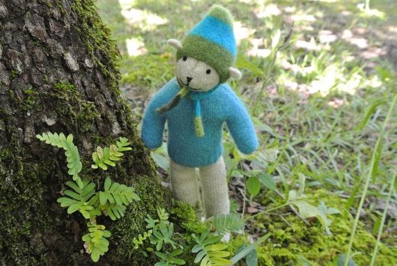 Pogo - Rhett, handmade small bear, eco-friendly