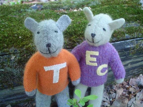 Pogo Team Mascot - eco friendly handmade stuffed animals
