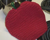 Apple Pot Holder Hot pad Trivet Crochet