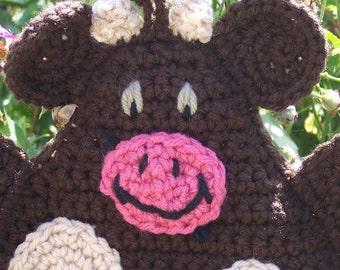 Brown Bull/Cow Pot Holder/Hot Pad Crochet