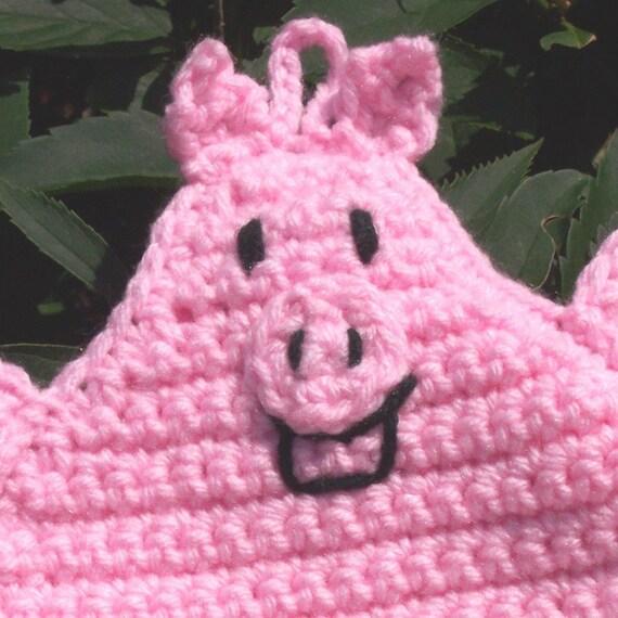 Pig Pot Holder/Hot Pad in light pink Crochet