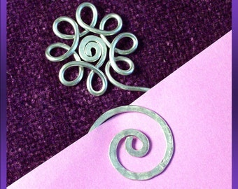 Bookmark.. Unique...custom..personalized...hand etched..Flower with Swirl..wedding favor...party favor...perfect gift