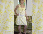 little yellow weeds dress, one size fits most