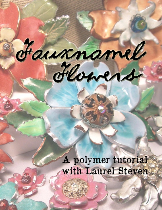 TUTORIAL - Fauxnamel Flowers in Polymer Clay