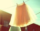 Hand Dyed Tea Length Tulle Skirt