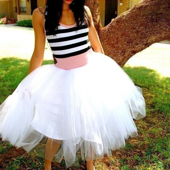 Striped Tulle Party Dress