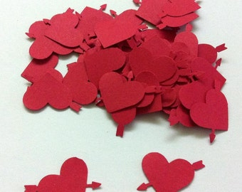 Heart with Arrow Confetti, Embellishment, Scrapbook, Cards and More Ideas