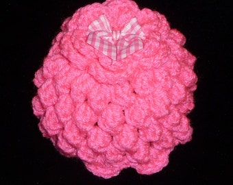 HOT PINK HAT Beanie Spring Easter Newborn Infant Boutique Crochet Handmade Photography Photo Prop Baby Shower Gift