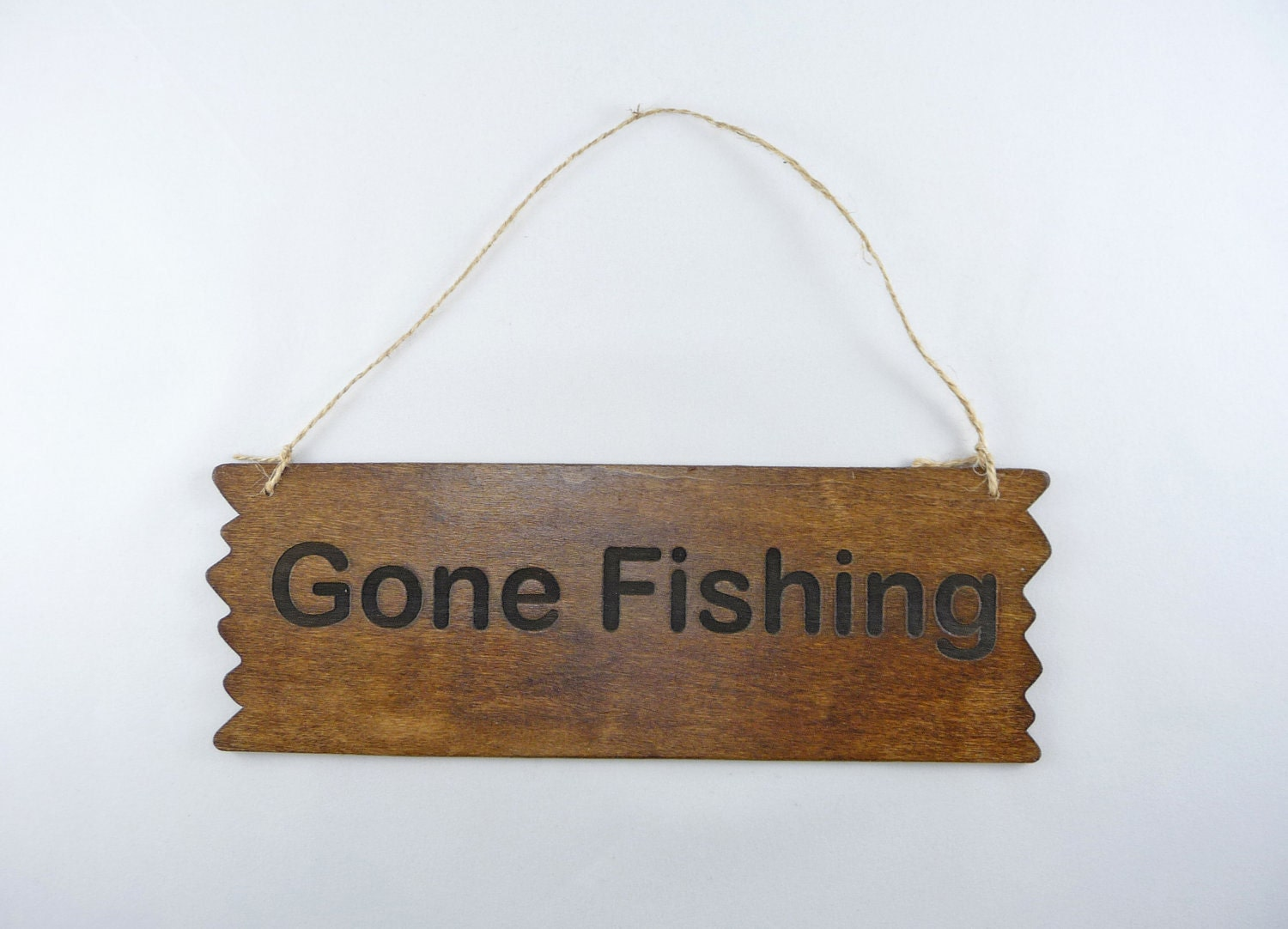 Sign gone fishing wood wooden wall cute by craftcreationsetsy for Gone fishing sign