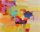 Abstract Painting, Oil Painting, Fine Art Print , Giclee Print , Wall Art , Wall Décor , Sun Print 10x10 12x12 16x16