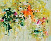 Abstract Art Prints, Abstract Painting, Oil Painting, Spring garden print, Giclee Print , Wall Art , Wall Décor , 10x10 12x12 16x16