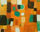 Summer Inspiration ORIGINAL Abstract Oil, Mix Media Painting