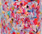 Abstract Painting, Oil Painting, Fine Art Print , Giclee Print , Wall Art , Wall Décor , Lucky Me 8x10