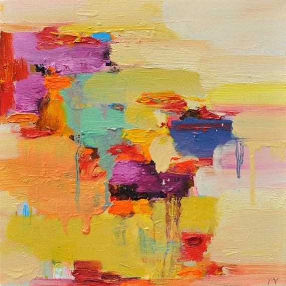 Abstract Painting, Oil Painting, Fine Art Print , Giclee Print , Wall Art , Wall Décor , Sun Print 10x10 12x12 16x16