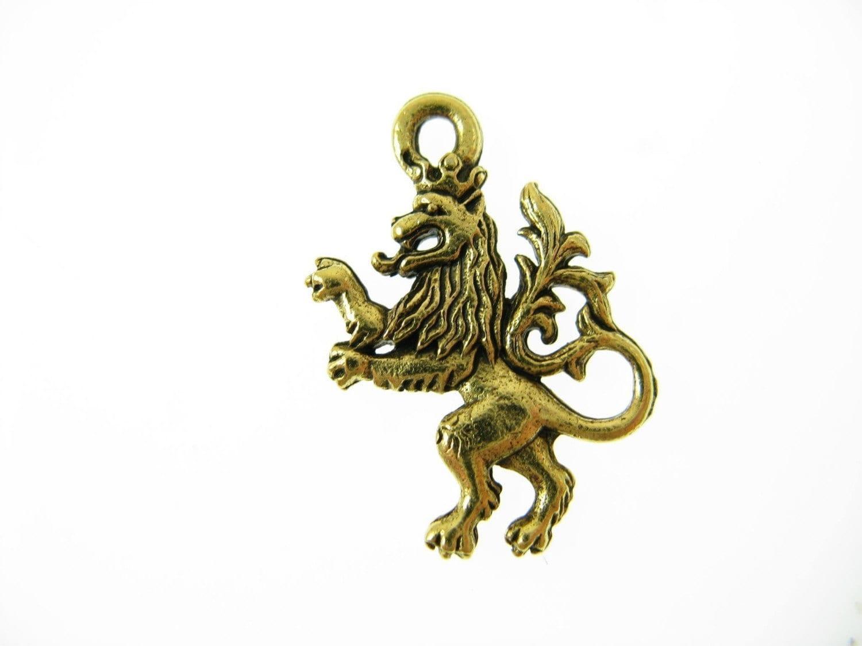 Standing Lion Cullen Crest CH65-Golden by WinterRoseDesigns