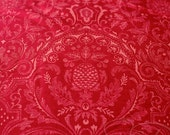 Swiss Holiday fabric from Moda... damask print on red... one yard
