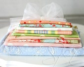 reserved for Kellie... Seaside Rose by 3 Sisters and others... HTF fabric lot of 9 pc... destash fat quarters plus